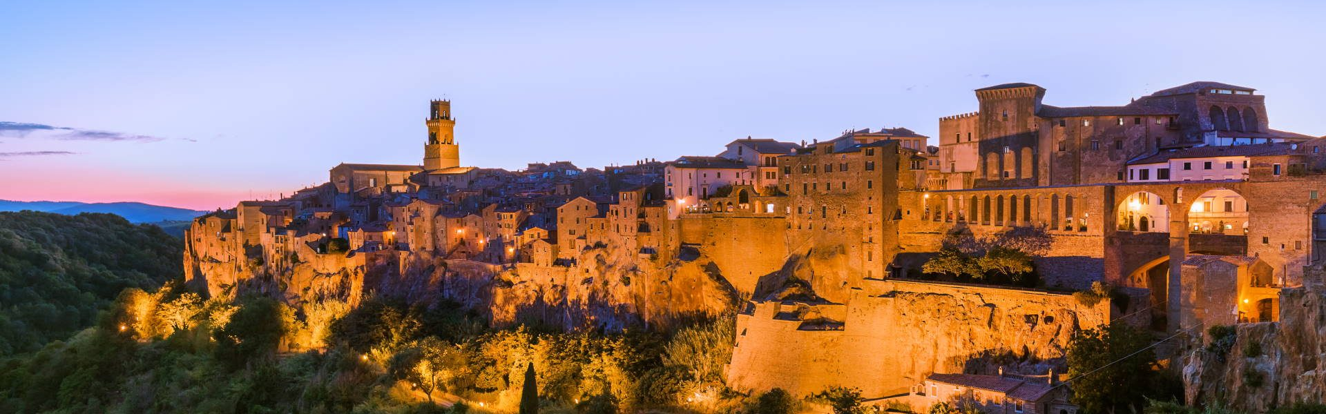 Pitigliano medieval town in Tuscany Italy - architecture background