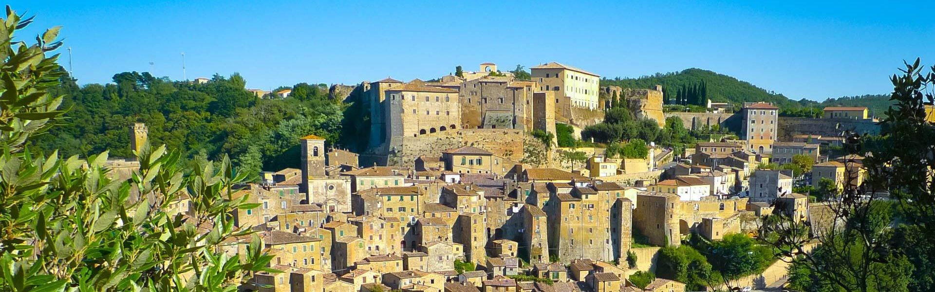 Picturesque medieval town of Sorano, Grosseto, Tuscany, Italy